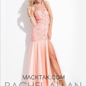 Rachel Allan coral pink prom pageant dress size 2